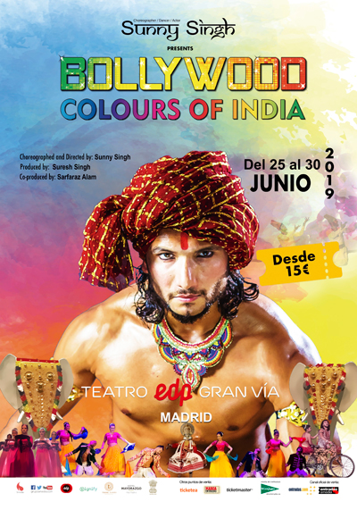 "Cartel de la obra ""Bollywood, colours of India"""