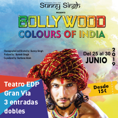 "Cartel del espectáculo ""Bollywood, colours of India"""